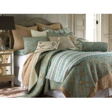 Lyon Teal Quilted Coverlet Set