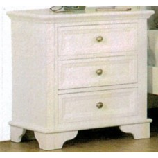 Hampton 3 Drawer Bedside Table