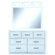 French Coast 7 Drawer Chest & Mirror