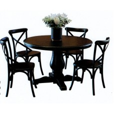 Bristol Table with Cross Back Chairs