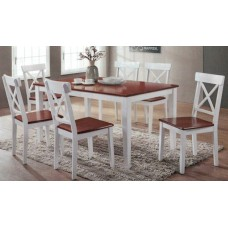 Cross Back 7 Piece  Dining Suite