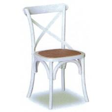 Cross back Chair - White