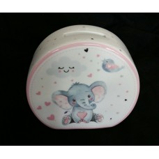 Baby Elephant Pink Money Box