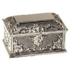 Cupid Lock Silver Plated Jewellery Box