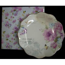 Bone China Plate - Floral