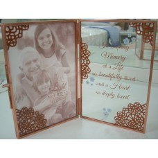 Hinged Memorial Glass  photo Frame