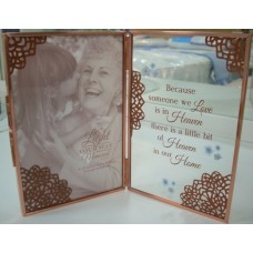 Hinged Memorial Glass Frame
