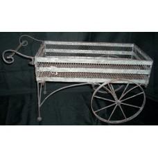 Rust Wash Flower cart