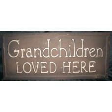 Vintage Grandchildren Sign