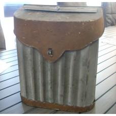 Galvanised Rust Postbox