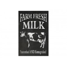 Farm Fresh Milk Black and White Wall Plaque