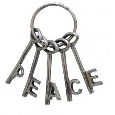 Peace keys - Aluminium