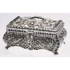 Victorian Princess Silver Plated Jewellery Box