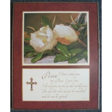 Peace Wooden Wall Flower Plaque