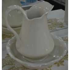 Classic Jug And Bowl - Cream