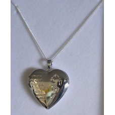Footprints Locket Necklace - Silver - Equilibrum
