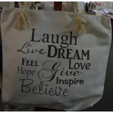 Inspirational canvas tote bag