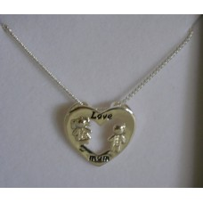 Love Mum Necklace - Silver- Equilibrium
