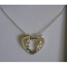 Love Mum Necklace - Silver- Equilibrium