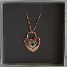 Rose gold Tone & Silver Padlock Necklace