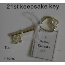 21st Keepsake Key- Rosegold - Equilibrium