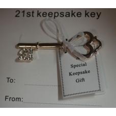 21st Keepsake Key- Silver- Equilibrium