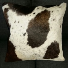 Cow Hide Cushion Cover - White/Brown Spots/Speckled