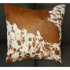 Cow Hide Cushion Cover - Brown/White/speckles