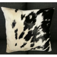 Cow Hide Cushion Cover - Black/White