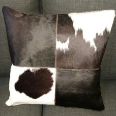 Cow Hide Cushion Cover - Black/White Squares