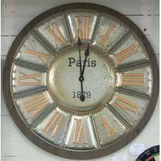 Metal & Wooden Wall Clock