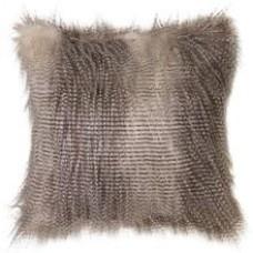 Speckled Owl Faux Fur Cushion