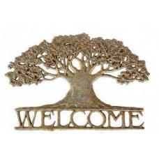 Metal Welcome Sign - Tree