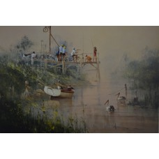 Angling Club by Robert Hagen - Limited Edition Print