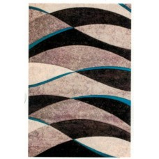 Belmont Wave Rug - Teal/Grey/Black