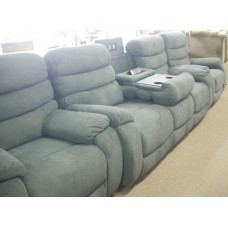 Easton Lounge Suite -Fabric Charcoal