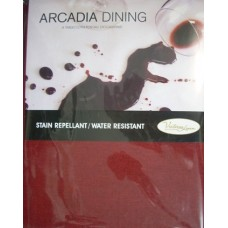 Arcadia Dining  Round Tablecloth - 150 cm Diameter - Red