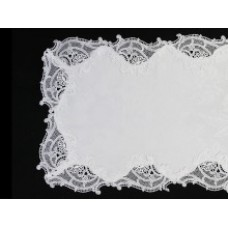 Belmonde Lace Table Runner - Ivory - 35 x 120 cm