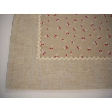 Cherries Cotton & Linen Tablecloth 90 x 90 cm