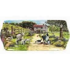 Collie and Sheep Farmyard Sandwich Tray