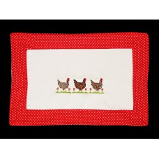 French Cottage Chickens Placemat