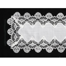 Cottage Rose Table Runner 39 x 148 cm - White