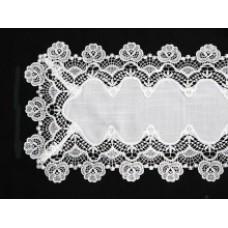 Cottage Rose Table Runner 39 x 117 cm - White