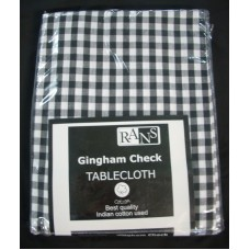 Gingham Check Tablecloth - 150x230 cm Black