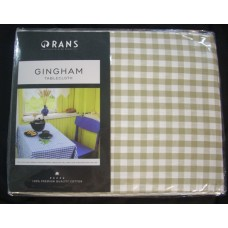 Gingham Check Tablecloth - 150x230 cm Taupe