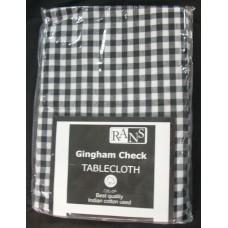 Gingham Check Tablecloth - 130x180 cm Black