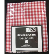 Gingham Check Tablecloth - 130x180 cm Red