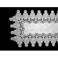 Elizabeth Table Runner 40 x 150 cm - White