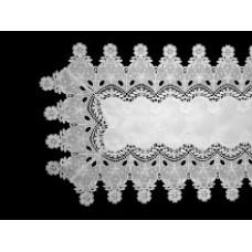 Elizabeth Table Runner 40 x 150 cm - White