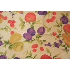 Fruits Cream Cotton Seersucker Tablecloth 145 x 185 cm